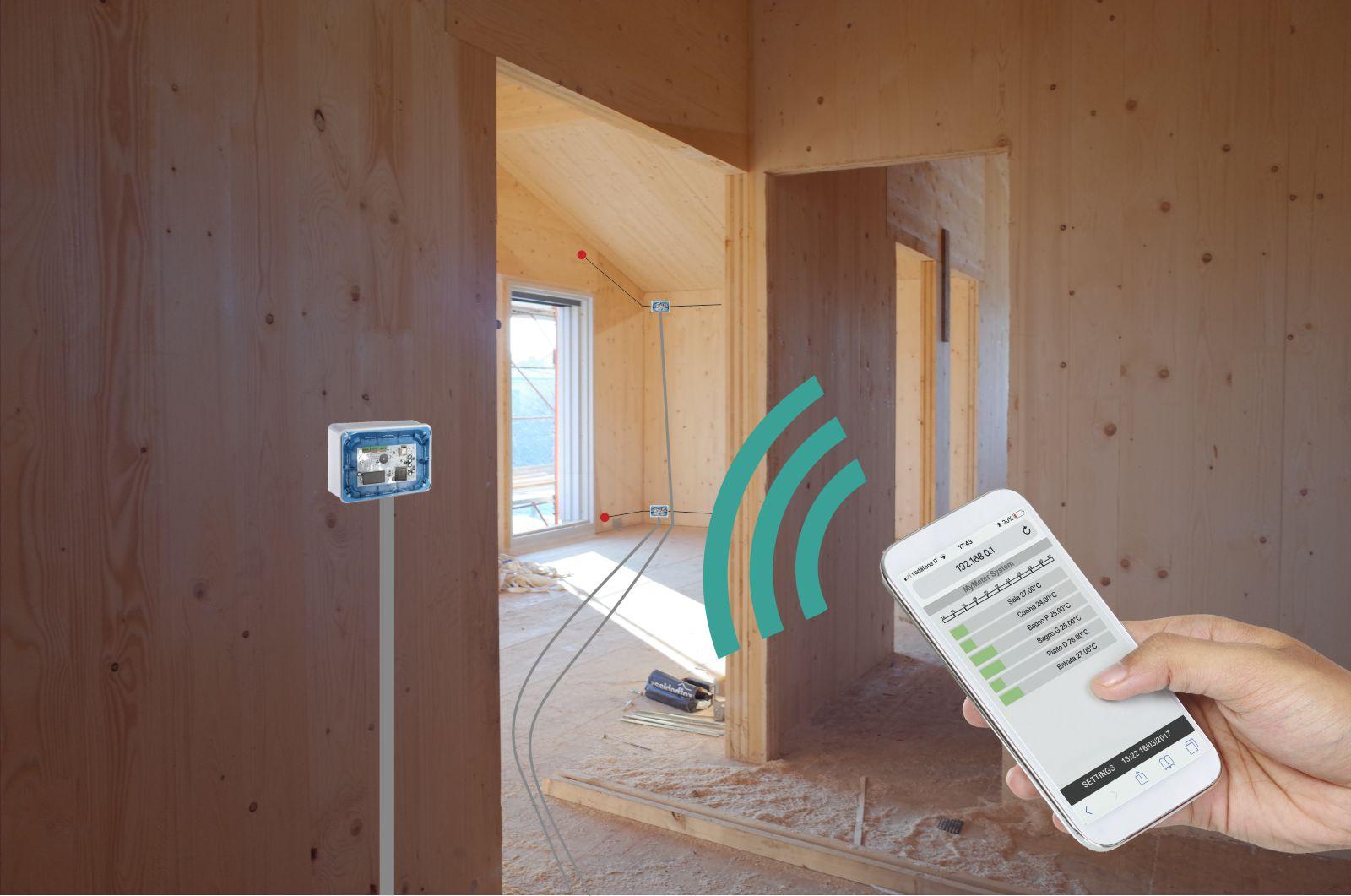 Esempio di posa provvisoria di MyMeter per poter monitorare la struttura già in fase di cantierizzazione